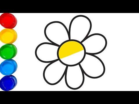 Download Renkleri öğreniyorum çiçek Boyama Boyama Sayfası çocuklar