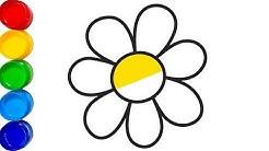 Renkleri öğreniyorum çiçek Boyama Ve Boyama Kitabı