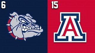2019 College Basketball #6 Gonzaga vs #15 Arizona Highlights