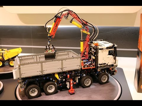 new! lego 42043 mercedes benz arocs 3245 motorized - youtube
