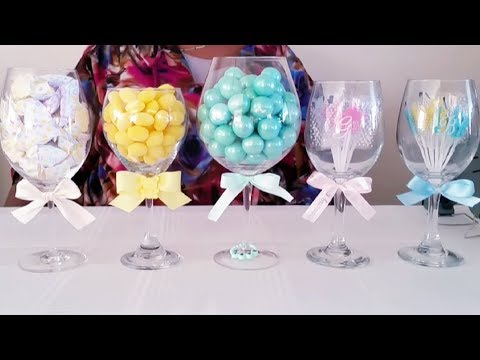 DIY  DOLLAR TREE BABY SHOWER CANDY AND, SWEET TABLE,  AMAZING IDEAS