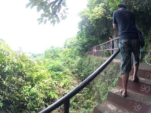 Climbing the steps to the Callao Cave, Penablanca, Cagayan