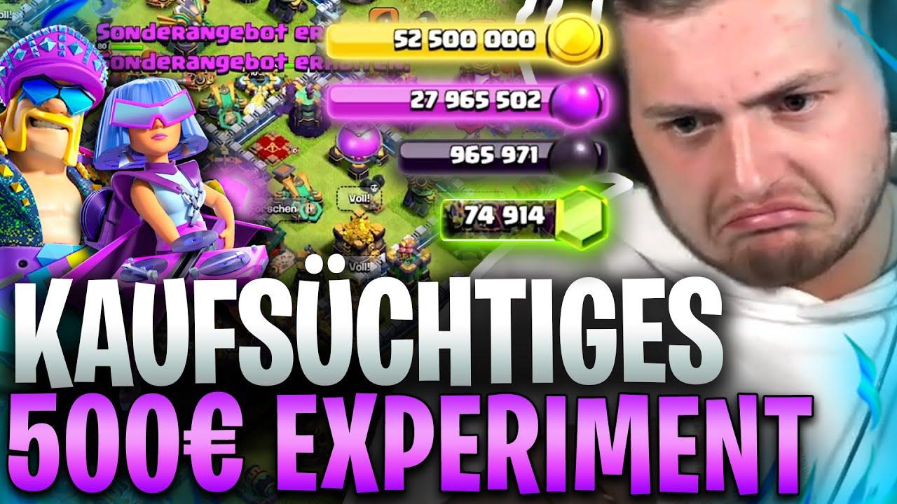 💸🤯KAUFSÜCHTIG in CLASH of CLANS?! GRÖßTE MAUERN EXPERIMENT & 500€ für NICHTS?