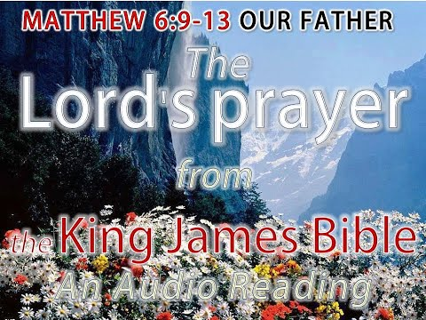 image relating to The Lord's Prayer Kjv Printable known as MATTHEW 6:9-13 - The Lords prayer - an Songs looking through in opposition to the King James Variation