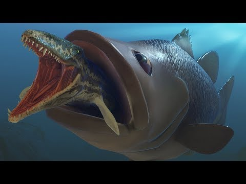 Giant Largemouth Bass Eats A Prognathodon - Feed And Grow Fish - Part 130 | Pungence