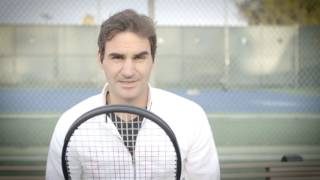 Roger Federer playing Luxilon Strings @LXNstrings