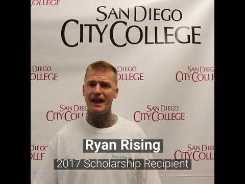 Friends of Downtown San Diego Scholarship recipient, Ryan Rising, San Diego City College student