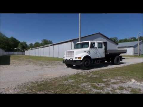 Crew Cab Trucks For Sale >> 1999 International 4700 Crew Cab Dump Flatbed Truck For Sale No Reserve Auction May 24 2017