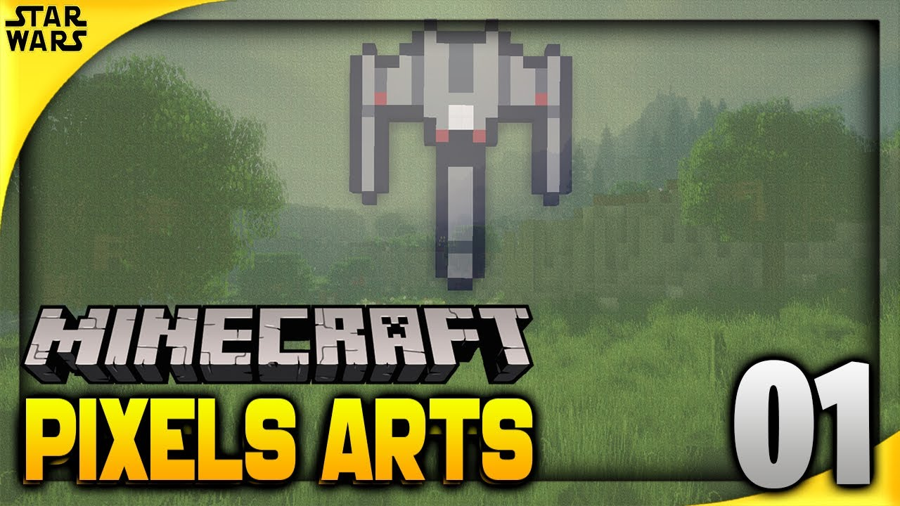 Comment Faire Un X Wing Pixel Art Sur Minecraft Minecraft Pixels Arts 1 Ft Karma