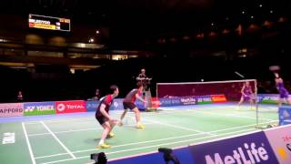 Badminton Nice Angle Camera, Japan Badminton Final MD 2015 Lee Yoo VS Fu Hai  Feng   Zhang Nan   Set