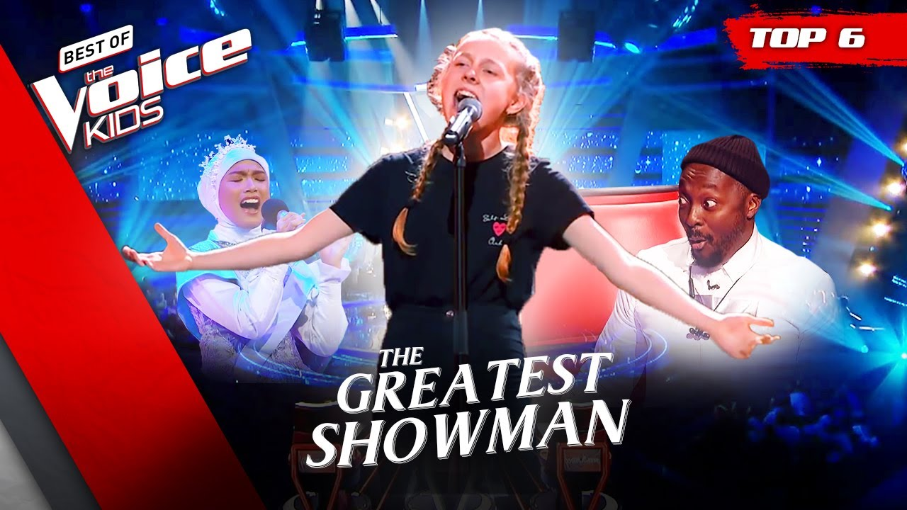 The GREATEST SHOWMAN performances in The Voice Kids! 🤩 | Top 6