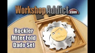 Rockler Miter Fold Dado Set Demo and Review