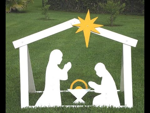 DIY Outdoor Nativity – Building Steps With Templates