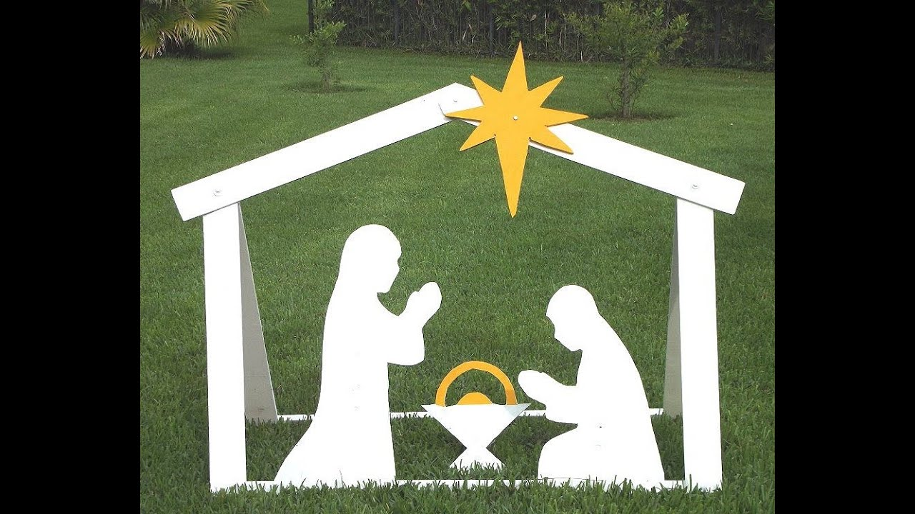 DIY Outdoor Nativity - Templates - YouTube