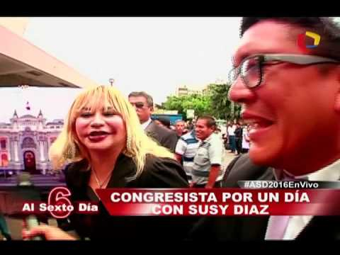 Congresista Por Un Día: El Divertido Reto De La Genial Susy Díaz