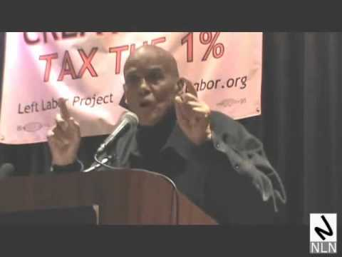 Harry Belafonte speaks at the Left Labor Project (LLP)