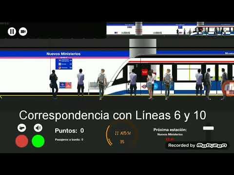 Metro De Madrid Simulator 2D Línea 8
