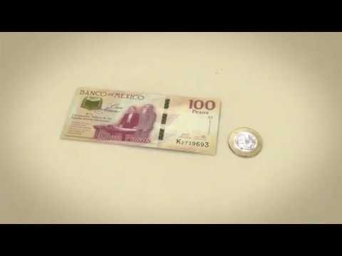 Billete de 100 pesos y moneda de 20 pesos, conmemorativos del Centenario de la Constitución de 1917
