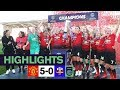 Women's Highlights | Manchester United 5-0 Lewes Fc | Stoney's Reds Lift The Championship Trophy