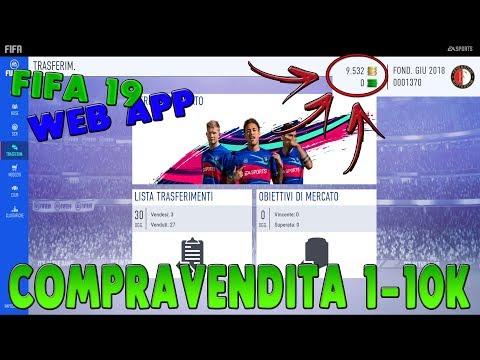 WEB APP FIFA 19 - COME FARE I PRIMI 10K (COMPRAVENDITA)