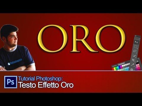 Tutorial Photoshop: Testo Effetto Oro [ Gold Text Effect - Italiano]