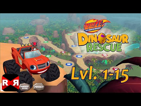 Blaze and the Monster Machines Dinosaur Rescue Lvl.1-15 - iOS / Android - Gameplay Video