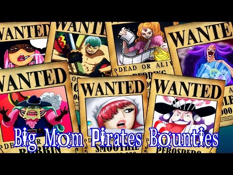 One Piece - Big Mom Pirates Bounties/Wanted - Predictions/Theory