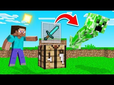 CRAFT ITEMS = Spawn MOBS In Minecraft! (insane)