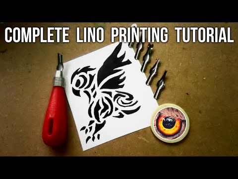 ULTIMATE GUIDE TO LINO PRINTING | STEP BY STEP TUTORIAL