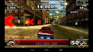 PPSSPP Emulator 0.9.6.2 for Android | Burnout Dominator [720p HD] | Sony PSP