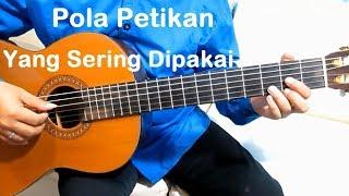 pola petikan yang sering dipakai belajar gitar petikan