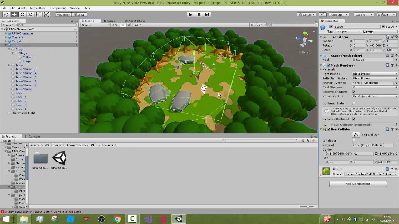 Como Descargar Mini Pack De Assets Para Unity 3d 2019 Youtube