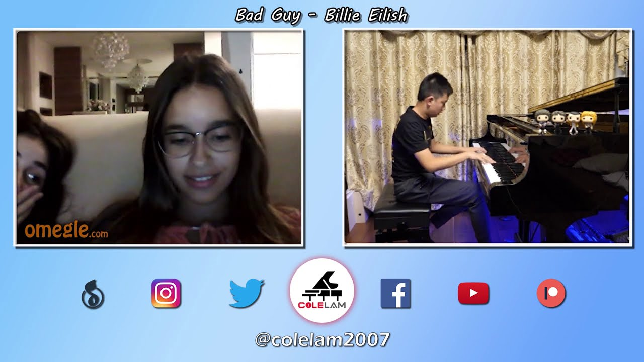 Taking Piano Requests from Girls on Omegle | Cole Lam