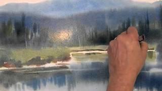 Sarah Yeoman Watercolors video III- focus on the mid-ground