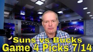 Free NBA Picks and Predictions | Milwaukee Bucks vs Phoenix Suns Game 4 Betting Preview | July 14