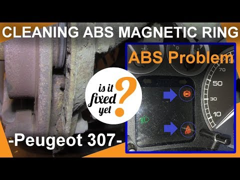 CLEANING ABS Sensor MAGNETIC RING - Peugeot 307 (in 10 minutes)