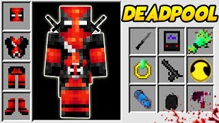 DEADPOOL W MINECRAFT?! SUPERHEROES UNLIMITED MINECRAFT MOD!