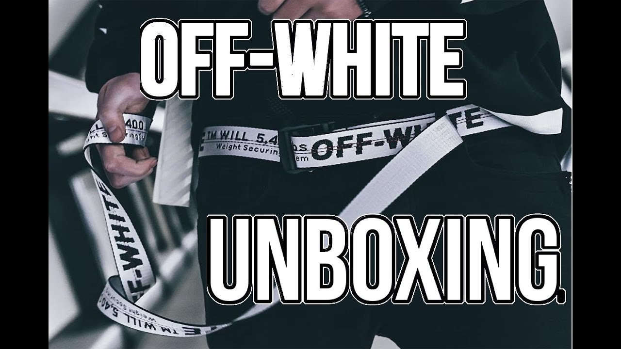 47819b4d1d15 OFF-WHITE UNBOXING! Off-White Industrial Belt and nike logo tee ...