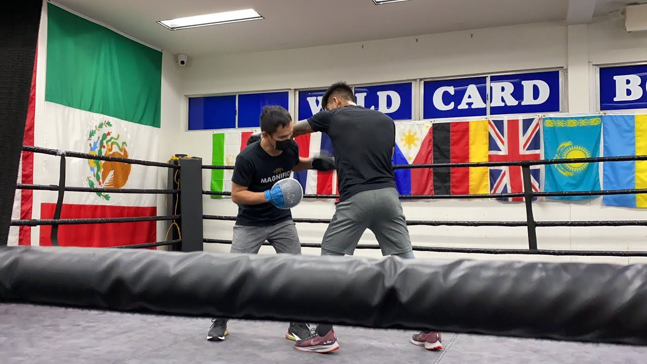 Mark Magnifico Magsayo Training in Wild card gym