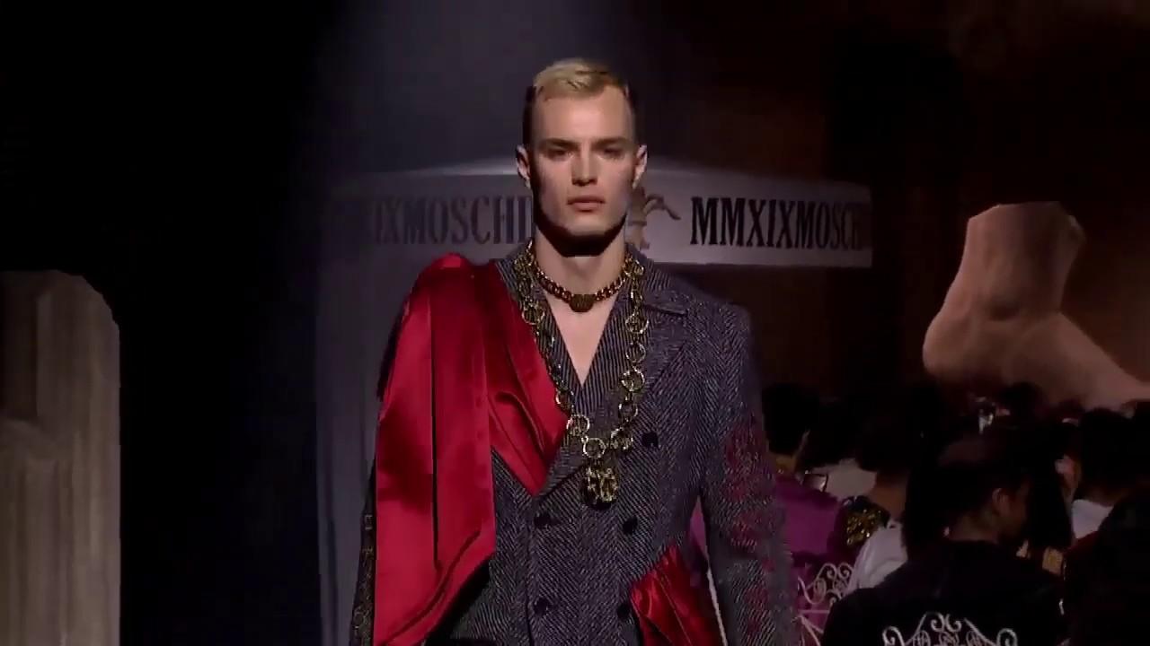 Moschino Menswear iFalli iWinteri 2020 i2020i YouTube