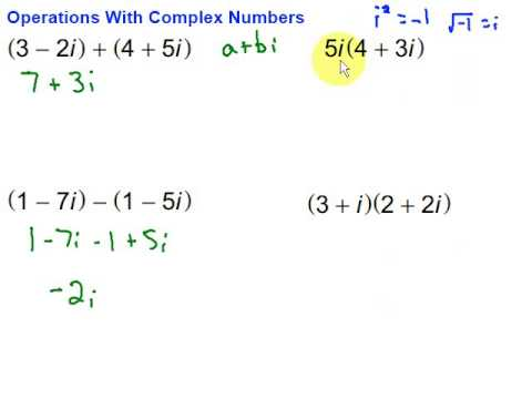 Operations With Complex Numbers - YouTube
