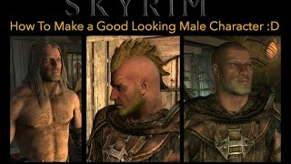 Skyrim - How To Make a Good Looking Male Character (Nord) :D (Turn on Subtitles!)