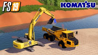Load Riversand With New Excavator Mining And Construction Economy Map Farming Simulator 2019