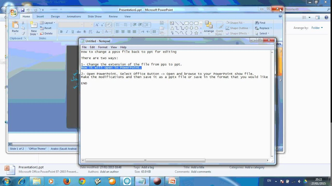 how to change a ppsx file to ppt for editing - youtube, Powerpoint templates