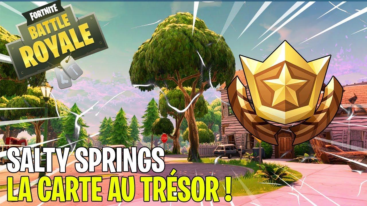Trouver La Carte Au Tresor De Salty Spring Fortnite Battle