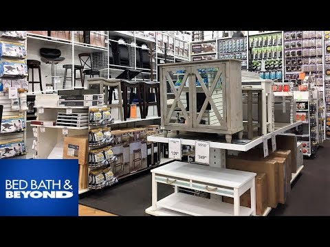 BED BATH AND BEYOND FURNITURE HOME DECOR - SHOP WITH ME SHOPPING STORE WALK THROUGH 4K