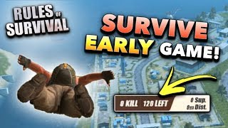 HOW TO WIN: The BEGINNING! | Rules of Survival (Tips and Tricks)