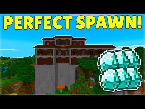 The BEST Mansion Seed In Minecraft With 15 + Exposed Diamonds! (iOS, Android, Xbox, PS4, Switch)