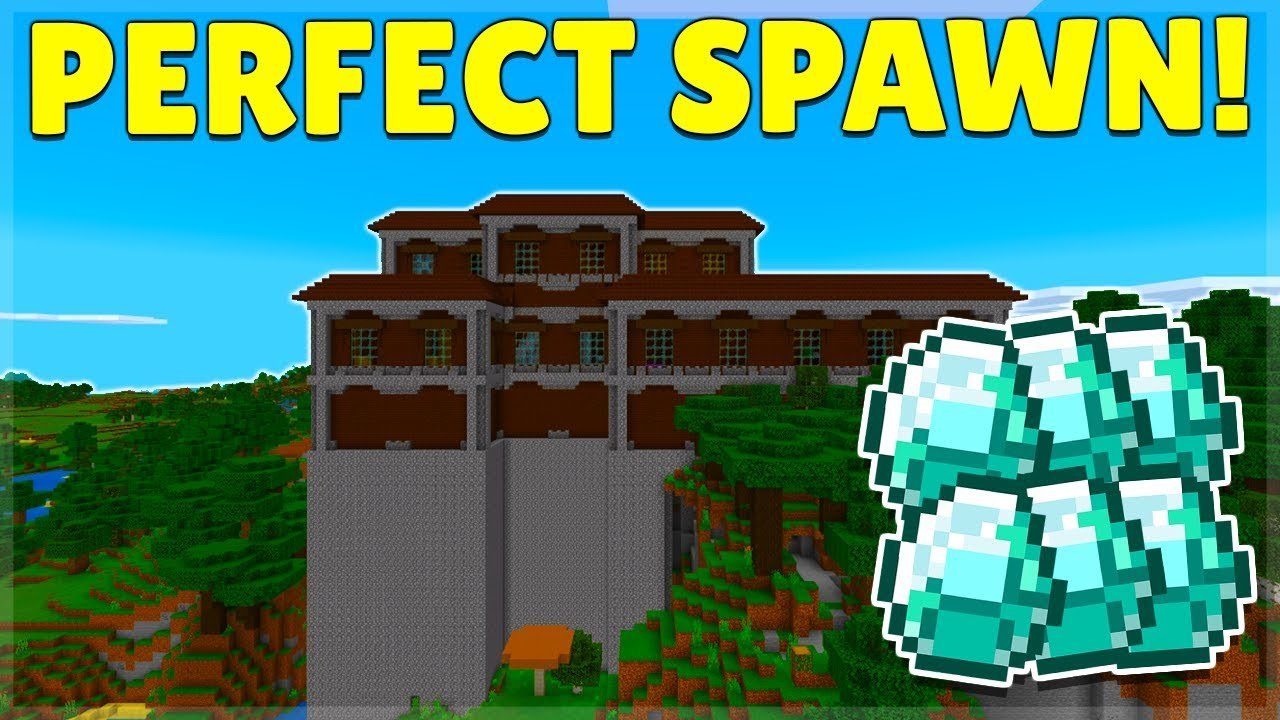The Best Mansion Seed In Minecraft With 15 Exposed Diamonds Ios Android Xbox Ps4 Switch Youtube