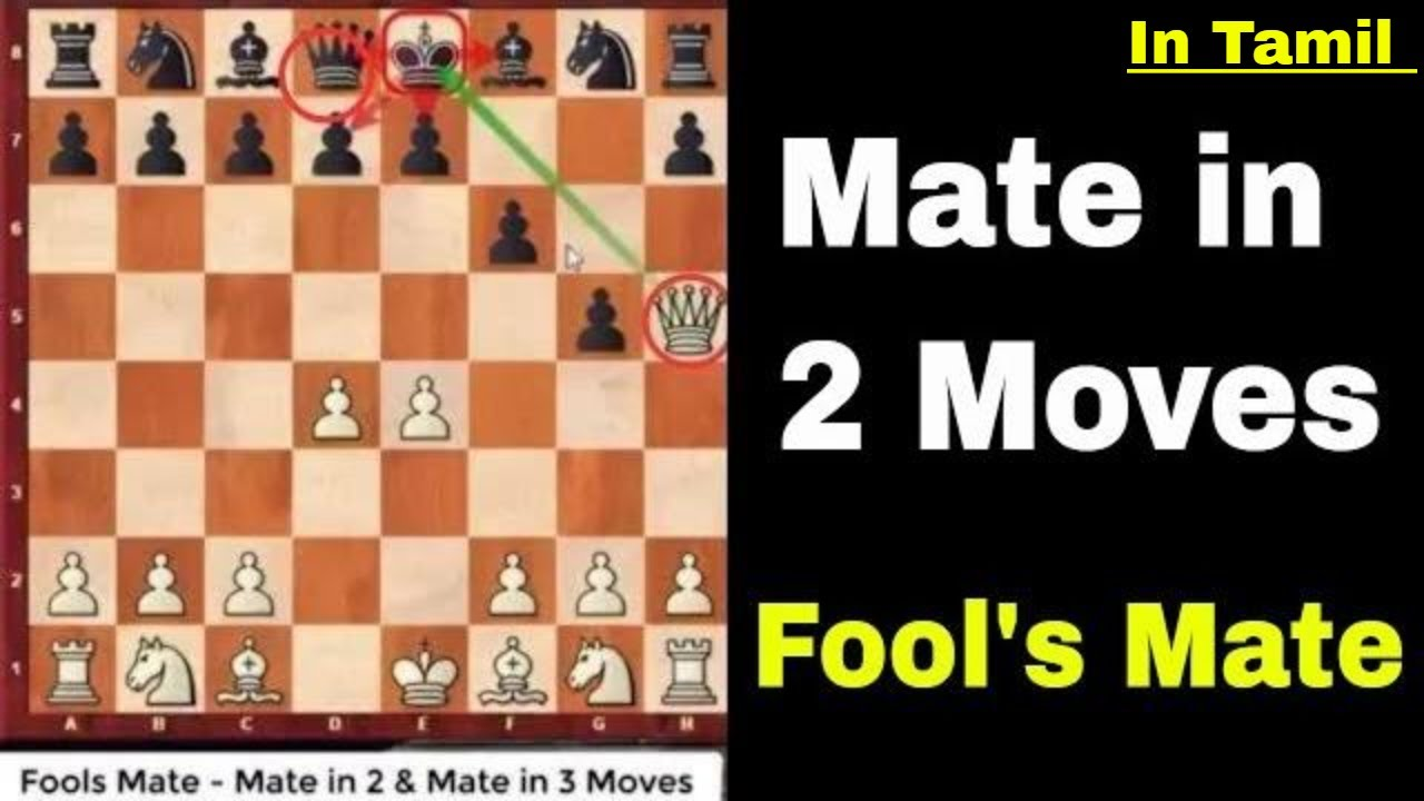 in tamil fools mate check mate in 2 moves mate in 3 moves youtube
